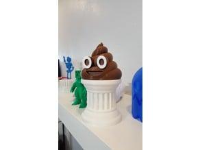 Poop Emoji Trophy With Eye Rings