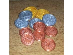 Generic Game Coins / Standard Spiel-Münzen