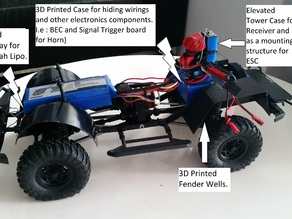 3D Print Outs for Axial SCX10