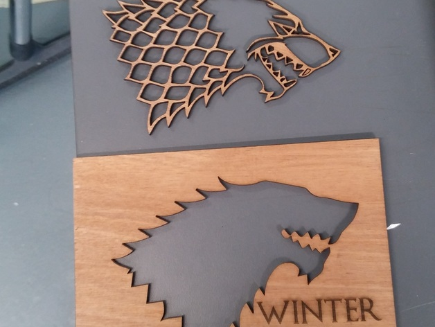 game of thrones house sigils laser cut template by ivanllh