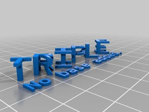 My Customized Triple Letter Blocks Illusion