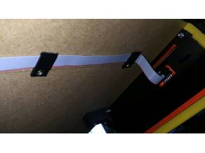Flat ribbon cable holder/guide