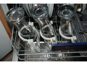 Holding bracket for high glasses @dishwasher