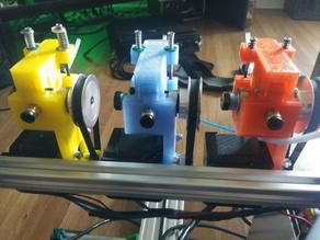 Remixed Cyborg Geared and/or Belted Bowden Extruder M8 bolt