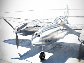 P-38 Lighting RC - test part
