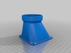 80mm Fan - 55 OD PVC Pipe Adaptor - Offset Fan Duct