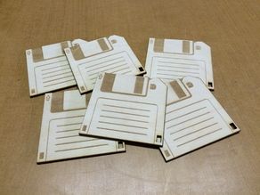 Laser Etched Floppy Disk Coasters