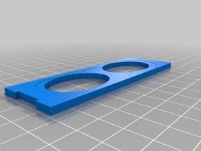Glue shelf for modular paint holder