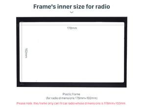 CD Player 2 DIN Frame