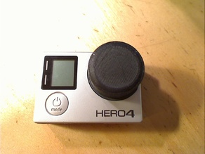 Simple gopro hero 4 front cap / lens cap