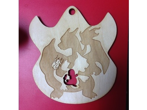 Fire Pokemon Flame Ornament Laser Cut