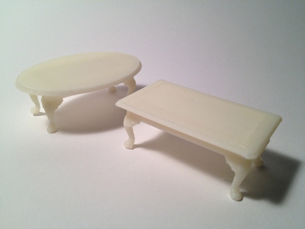 Miniature Queen Anne Coffee Tables by PrettySmallThingsThingiverse