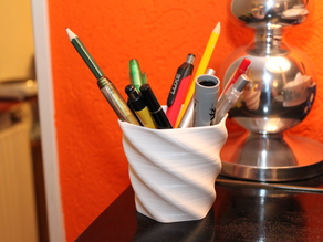 Twisted Pen Pot / Vase
