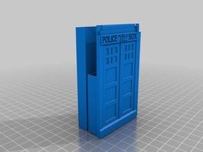 TARDIS Sliding Business Card holder