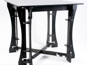 Pub Height Dining Table - 3-axis CNC router