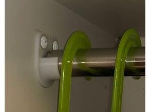 coat hanger rail bracket 24mm