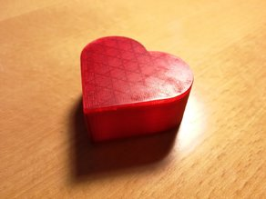 Simple Heart Shaped Box