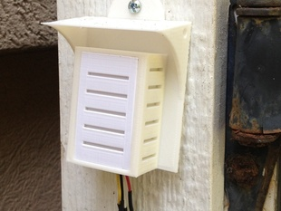 Vented and shaded box for outdoor temp and humidity sensors