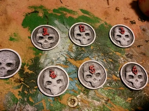 25mm Warhammer 40K Objective Markers