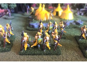 15mm Banana Knight Spears / Pike Wargames Figures - HotT