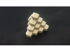 Four Piece Pyramid Puzzle (Stewart Coffin #26)