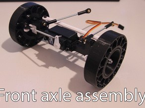 Printed truck V2: Front axle