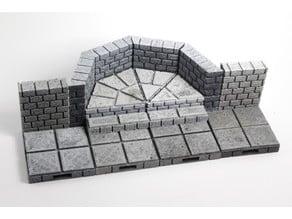 OpenForge Cut-Stone OpenLOCK Angled Risers
