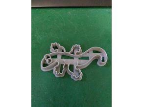 Lizard cookie cutter