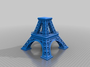 Eiffel Tower, scaled to 350%, in 3 pieces