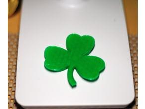 St Patrick's Day Shamrock Fridge Magnet