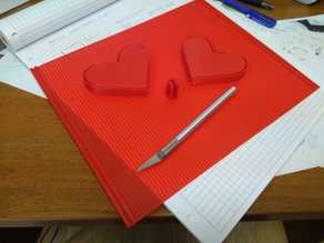Heart shape pencil case