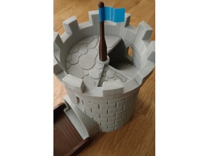 Flag and Flagpole for [Dice Tower with Secret Chamber for Dice Storage]
