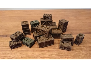 lasercut crates - 28 mm wargaming terrain
