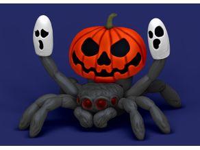 Halloween pumpkin peacock spider