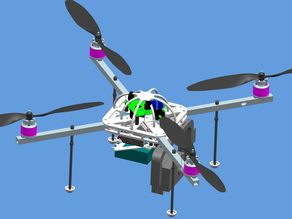 quadrocopter frame center plate