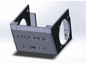 ANYCUBIC I3 MEGA silent hotend housing + circular turbofan duct mod
