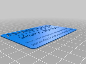 Business card Amandla3D