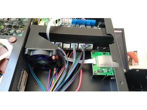 Anycubic i3 Mega UltraBase fan duct for stepper drivers (Remix) 50mm Fan