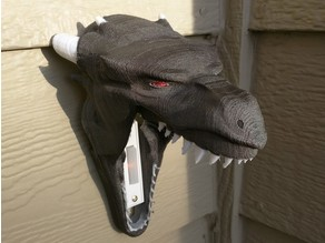 Dragon Head Doorbell Cover for Halloween Trick or Treaters