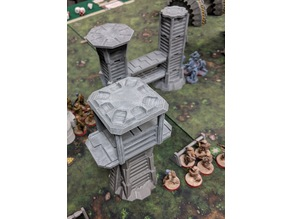 Star Wars Legion Terrain - Modular Watchtower and Walkways