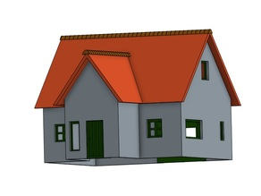 Model house, scale 1:87 (H0)