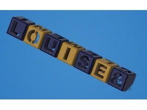 Double Letters Hollow cubes