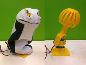 Gesture controlled Sock Puppet
