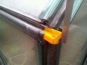 Green house rainwater gutter adapter/replacement