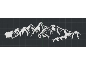 Mountain Scene 2D Wall Art