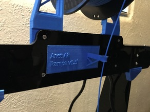 Anet A8 LCD filler with filament guide