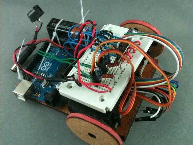 Line following arduino robot by i make robots thingiverse