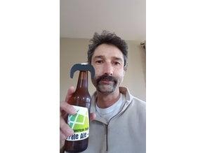 Beer Bottle Mexican Mustache