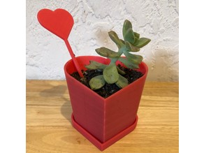 Customizable Tapered Heart Planter/Vessel
