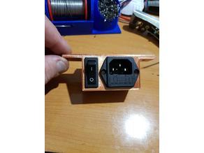 Conector corriente y boton CR-10 para perfil 2020
